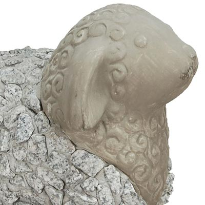 Mims Pottery Stone Sheep