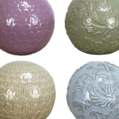 Mims Pottery Assorted Garden Spheres