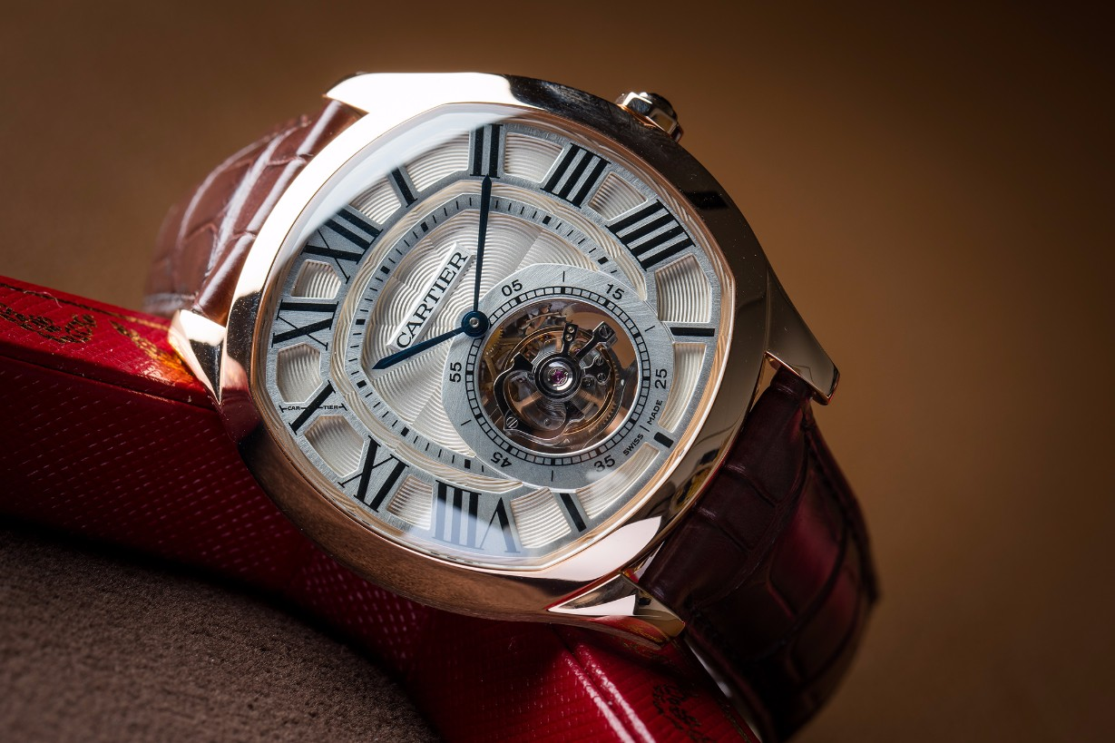 The Drive de Cartier Flying Tourbillon Watch Red : W4100013